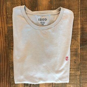 Men's - IZOD Gray Tee Shirt - Super Soft - Large